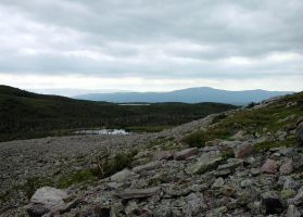 Climbing Gros Morne 1 by LucieG-Stock