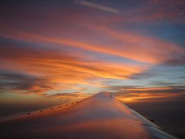 Sunset By Plane by phq