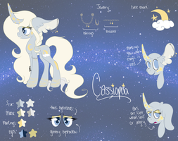:COM: Cassiopeia Ref Sheet by spottie-dots
