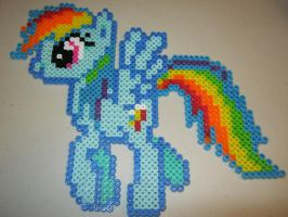 My little pony Rainbow Dash perler bead by Ritalabella