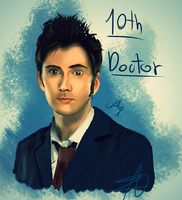 The 10th Doctor by Catty-13