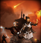 Legend of Korra: Protecting the Fire Lord Iroh by DarthDestruktor