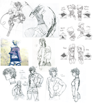 SNK sketchdump by etchpea