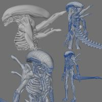 Alien Warrior by muttleymark
