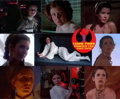 Star Wars Princess Leia Carrie Fisher 1956-2016 by ENT2PRI9SE