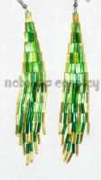 Green and Gold Earrings by Natalie526