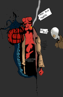 Hellboy, Problems [Coloured] by The-Most-Melancholy