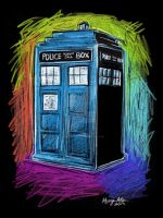 The TARDIS by TheInklingGirl