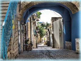 Old alley, new painting by ShlomitMessica