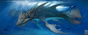 Early Pisces Dragon Illustration by MinohKim