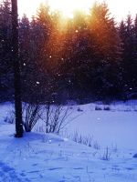 Snowing and Sunshine 2 by Jantiff-Stocks