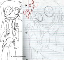New and Old Jeff The killer by UnderstandDarkness