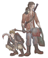 spn x dying light - runners!sam n' dean by samalambis
