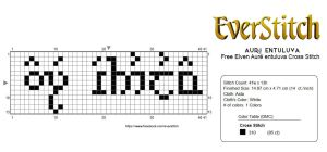 Aure entuluva Free Elvish Cross Stitch Design by EverStitch