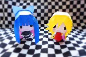 Panty and Stocking Papercrafts by Geexy-Thingie