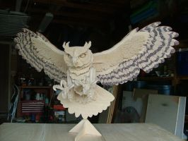 Great Horned Owl, Sneek Peek by RamageArt