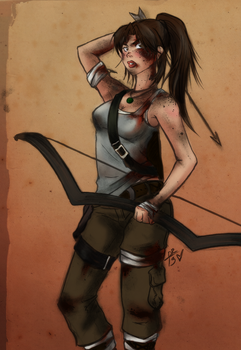 Survivor Lara Croft by SisterBelldandy