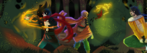 1001 MN Collab: Battle in Peveah Dungeon by xYorutenshi