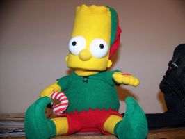 Christmas Bart Simpson by jhwink