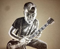 Charcoal Drawing of Eric Lambert (blessthefall) by ThrowYourRoses