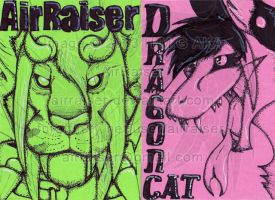 Neon Badge: AirRaiser and Dragoncat by AirRaiser