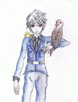 Prussia and Bird by Fairybunny27