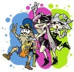 Splatoon ~ Cuttlefish, Callie and Marie by Lycaon-the-Wolf