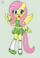 Fluttershy forma sonic by SuperFanShadamy