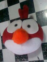 angry birds red plush by xmorris33
