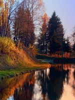Romantic evening at the lake II by patrickjobst