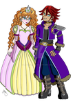 Prince Garland And Princess Ophelia by Mynhphrah