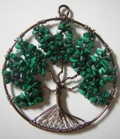 Malachite Tree of Life *SOLD* by RachaelsWireGarden