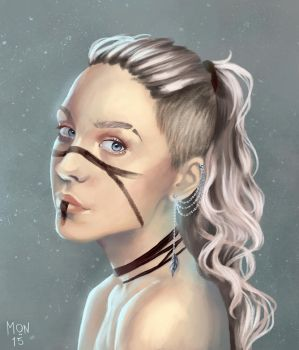 Girl with warpaint by Sonen89
