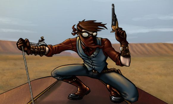 Old West Spidey by DecayingArt