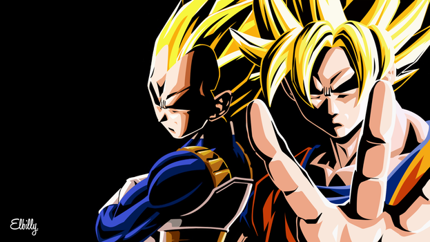 Goku And Vegeta 4k Resolution by elbillyy