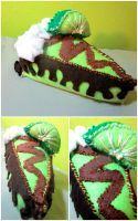 Chocolate Key-Lime Pie Plush by LaerZhai