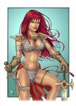 Red Sonja colours by Carl-Riley-Art