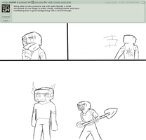 Humiliating Herobrine by Ask-Creeps-and-Lanky