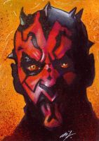 Darth Maul Sketch Card by Ethrendil