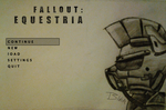 Fallout Equestria Start Screen (ATG Day 9) by BlinkPone