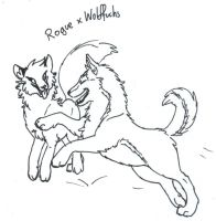 Rogue and Wolf by wolffuchs