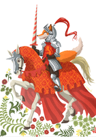 The Fox Knight by Eve-Brengard