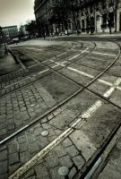 Tramway's route by Tzail