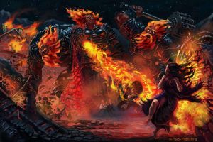Fire Giants village aflame by orangus