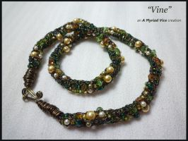 Vine - viking knit necklace by AMyriadVice