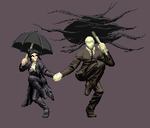 Quick Spritework 5 - Naily and Slenderman skipping by DOA687