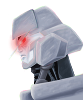 Megatron digital painting practice by Spikeprime