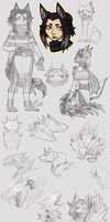 Khim and her Shadow -- Concept Sketchdump by TeniCola