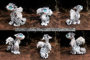 Snow Leopard Dragon by BittyBiteyOnes