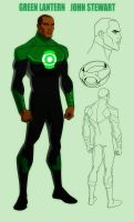 YOUNG JUSTICE: JOHN STEWART: GREEN LANTERN by Jerome-K-Moore